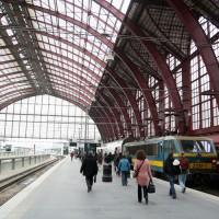 Zicht op het perron van Antwerpen-Centraal