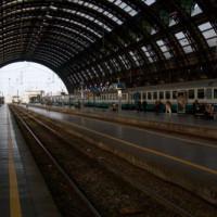 Perron in het Stazione Centrale