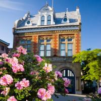 Bloemen aan het Centre d'Histoire de Montréal
