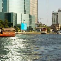 Beeld van op de Chao Phraya