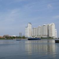 Zicht over de Chao Phraya rivier