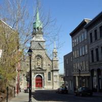 Voorkant van een kapel in Montreal
