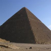 Zicht op de Piramide van Cheops