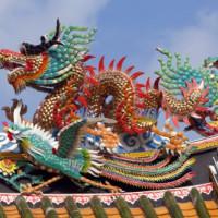 Draak op de poort naar Chinatown
