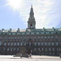 Gevel van het slot Christiansborg