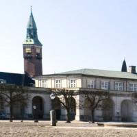 Zicht op het slot van Christiansborg