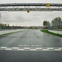 Streep op het Circuit Gilles Villeneuve