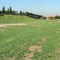 Zicht op het Circus Maximus