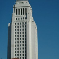 Zijkant van Los Angeles City Hall