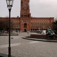 Vergezicht van het Rotes Rathaus