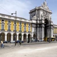 Gebouw aan het Praça do Comércio