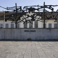 Kunstwerk aan het Concentratiekamp van Dachau