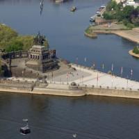 Deutsches Eck tussen Rijn en Moezel
