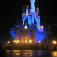 Nachtbeeld op het Tokyo Disney Resort