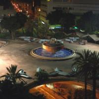 Nachtbeeld op Dizengoff Square