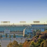 Zicht op Dodger Stadium