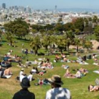 Panorma uit Dolores Park