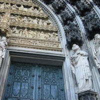 Detail van de deur van de Dom