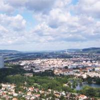 Uitzicht van op de Donauturm