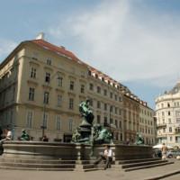 Overzicht op de Donnerbrunnen