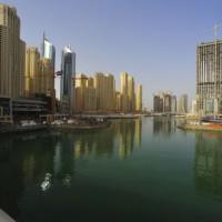 Skyline van Dubai Marina