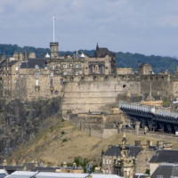Vergezicht op Edinburgh Castle