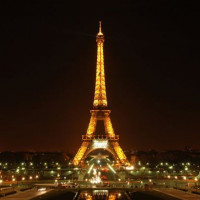 Nachtbeeld van de Eiffeltoren