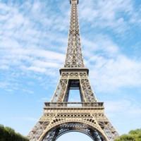 Zijde van de Eiffeltoren