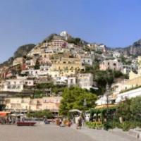 Bebouwde berg op Capri