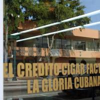 Raam van El Credito Cigar Factory