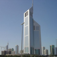 Totaalbeeld van de Emirates Towers