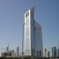 Totaalbeeld van de Emirates Towers