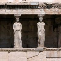 Kariatiden op de Akropolis