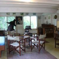 Binnen in het Ernest Hemingway Museum