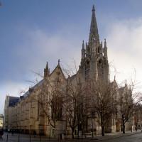 Vooraanzicht van Eglise de Saint Maurice