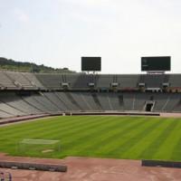 Binnenkant van het Estadi Olimpic Lluis Companys