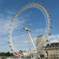Totaalbeeld van het London Eye