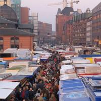 Beeld van de Hamburger Fischmarkt