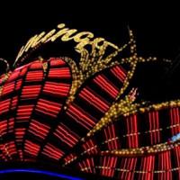Nacht bij het Flamingo Las Vegas