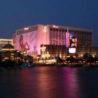 Vergezicht op het Flamingo Las Vegas