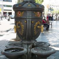 Fontein op de Rambla