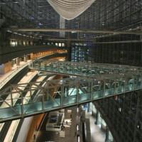 Nacht in het Tokyo International Forum