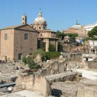 Zicht op het Forum Romanum