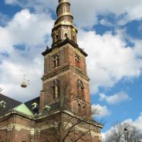 De toren van de Vor Frelsers Kirke