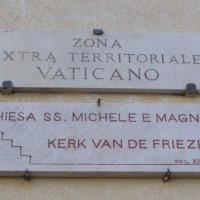 Bordje aan de Friezenkerk