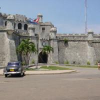 Muren van een fort in Havana