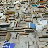 Boeken in cement