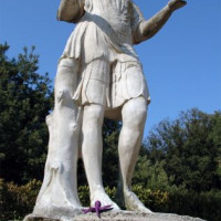 Standbeeld bij de Museo e Galleria Borghese