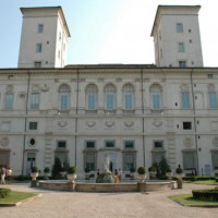 Voorkant van de Museo e Galleria Borghese