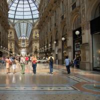 Winkelaars in de Galleria Vittorio Emanuele II